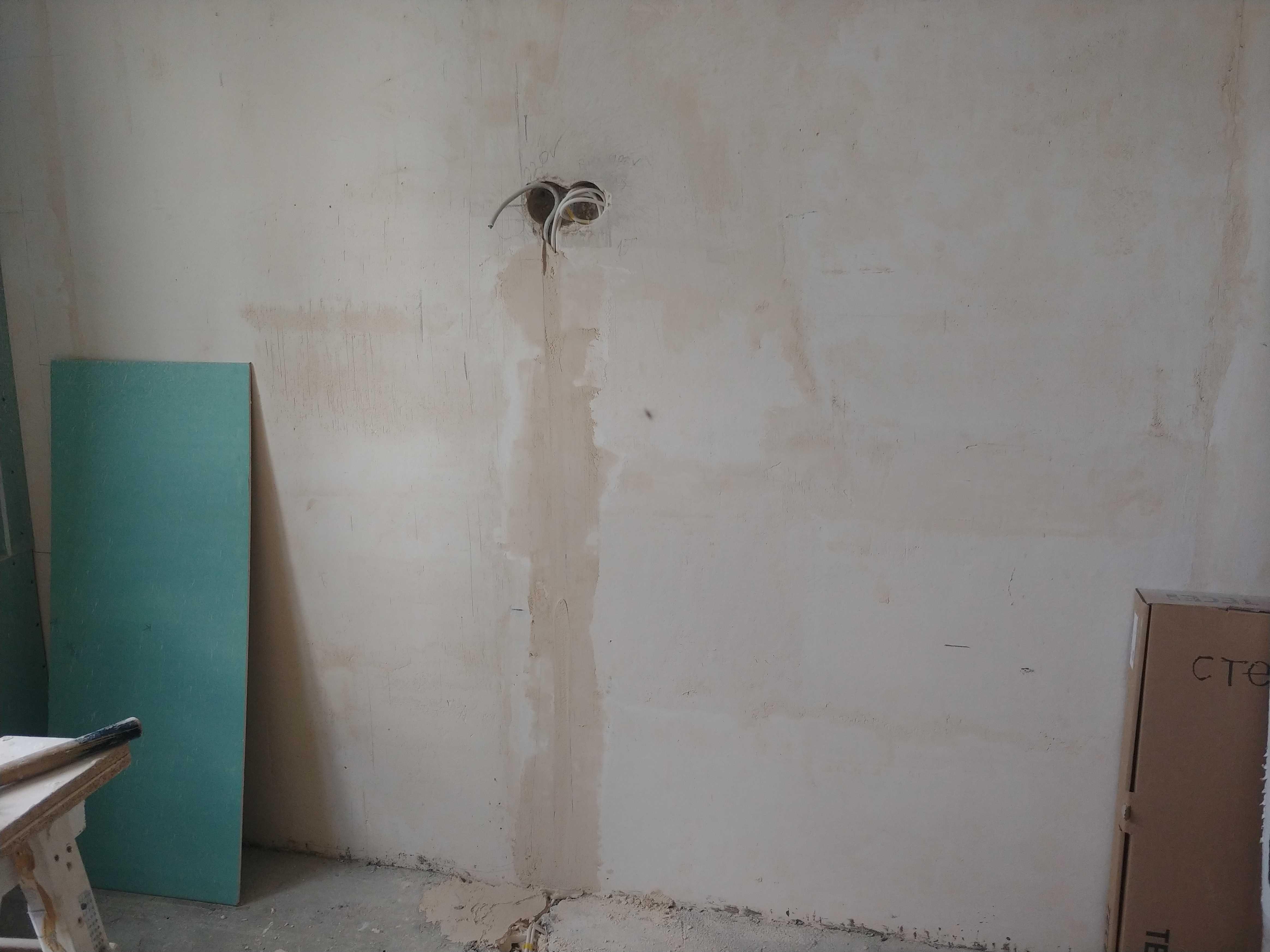 Штроба под электропроводку для телевизора